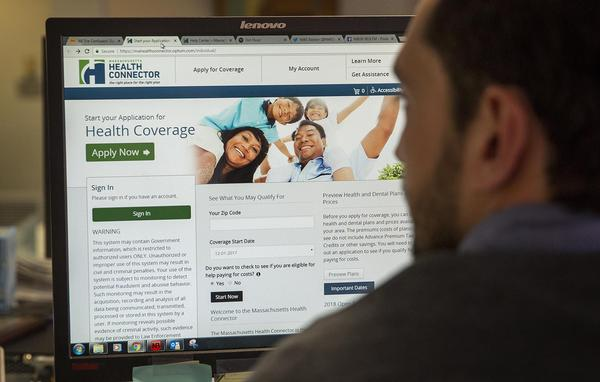 The Massachusetts Health Connector website (Robin Lubbock/WBUR)