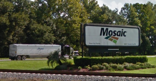 The Mosaic plant is located on State Road 39, just south of the Pasco County line
