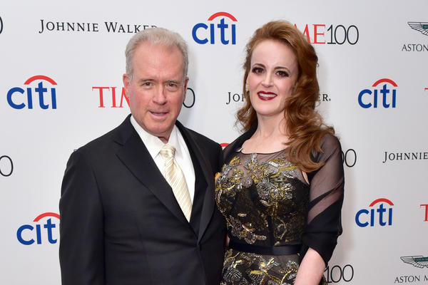 Robert Mercer and his daughter Rebekah Mercer attend the 2017 TIME 100 Gala. He announced that he is stepping down from the hedge fund he co-heads and is selling his stake in Breitbart News to his daughters.