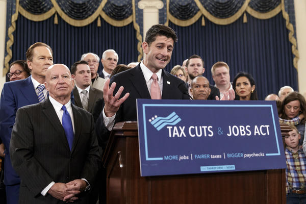 Speaker of the House Paul Ryan, R-Wis., emphasizes the need for the changes provided in the GOP's far-reaching tax overhaul, the first major revamp of the tax system in three decades, on Capitol Hill on Thursday.