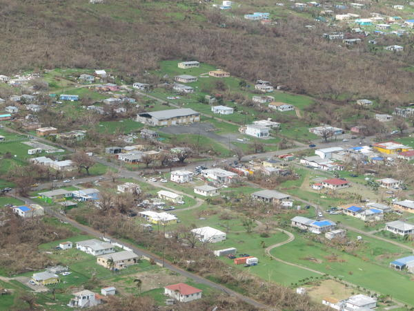 Destruction on the ground in St. Croix.