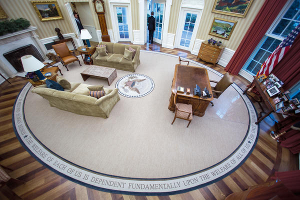 Obama leaves the Oval Office for the last time as president on Jan. 20, 2017.