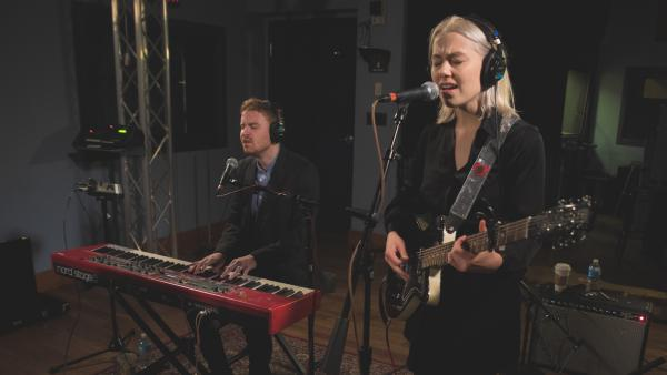 Phoebe Bridgers inside the World Cafe Performance Studio at WXPN in Philadelphia.