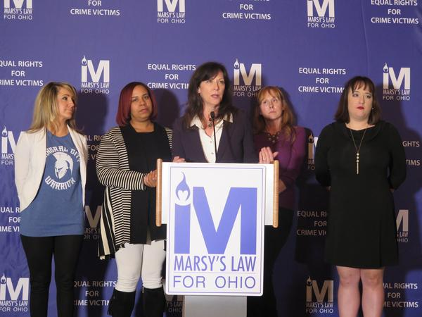 Supporters of Marsy's Law celebrate