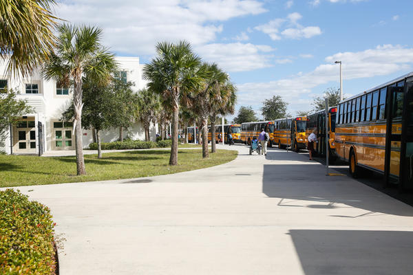 SunRidge Middle School in Winter Garden, Fla., where Yara Ramos works as a paraprofessional.