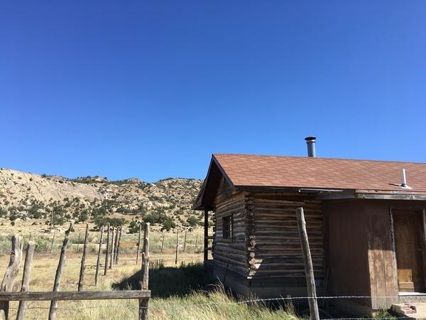 Sadie Bill's cabin sits at the base of Claim 28. She no longer lives there because of concerns about uranium contamination.