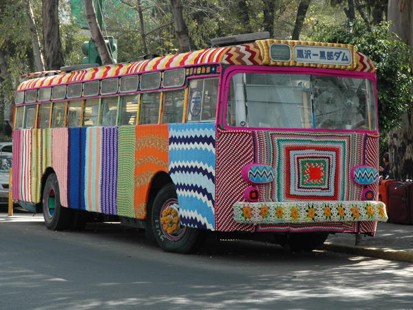 Magda Sayeg: Bus (Mexico City, Mexico)
