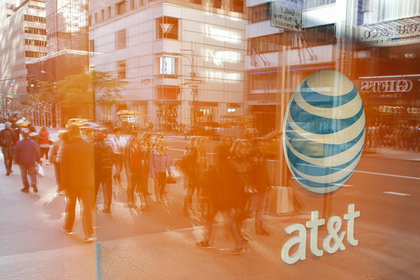 An AT&T storefront on Fifth Avenue in New York. The Justice Department may require the company to sell CNN as part of a proposed takeover of Time Warner.