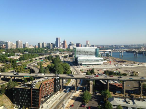 <p>Portland skyline as seen from the OHSU Waterfront building.</p>