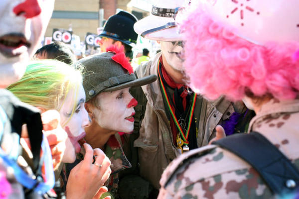 <p>Members of the Clown Army.</p>