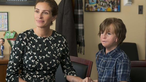 Julia Roberts and Jacob Tremblay star in <em>Wonder</em>.
