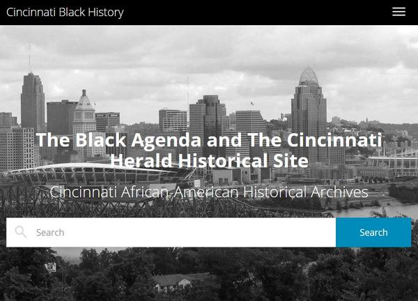 CincinnatiBlackHistory.com is an effort to fill a gap in preserving African-American history.