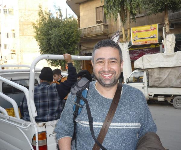 "Shadi Martini in an undated photo taken in Aleppo, Syria, before he was forced to flee the city.  ""I remember <em>every</em> sandwich,"" he jokes, ""not only at Syrjeia. Because I love these sandwiches."""
