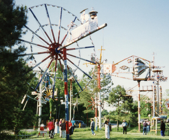 One of the handmade whirligigs at the Vollis Simpson Whirligig Park