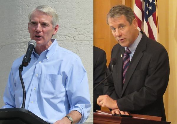 (left to right) U.S. Senator Rob Portman (R-Ohio), U.S. Senator Sherrod Brown (D-Ohio)