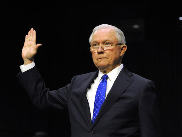 Attorney General Jeff Sessions is sworn-in before testifying to a Senate Judiciary Committee hearing on Oct. 18. On Tuesday, he faces the House Judiciary Committee.