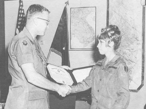Karen Offutt was awarded a Certificate of Achievement for her heroic acts in Vietnam in 1970. It wasn't until 2001 that she was awarded a Soldier's Medal for Valor.