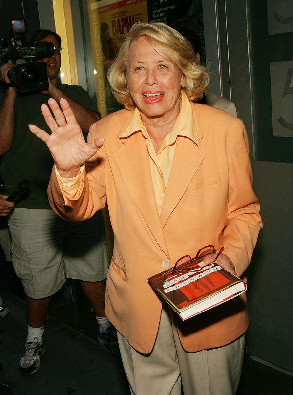 Famed gossip columnist Liz Smith, pictured in New York in 2005, died at age 94 on Sunday.