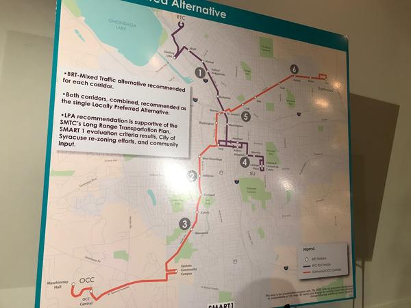 Officials say the Bus Rapid Transit system would get more people around the city faster