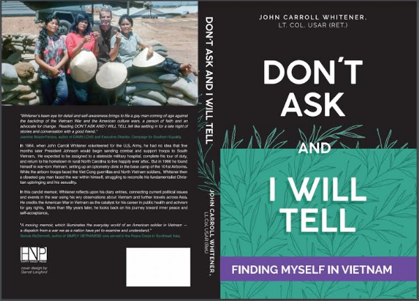 Cover of John Carroll Whitener's new book.