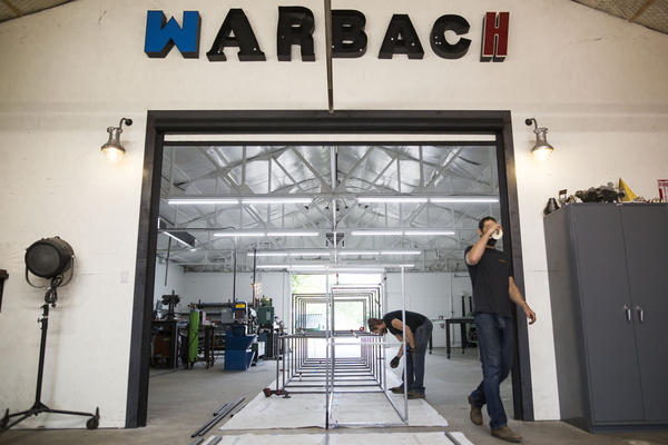 Buck Hubach and Nathan Warner made light fixtures for fun before opening Warbach Lighting and Design in East Austin.