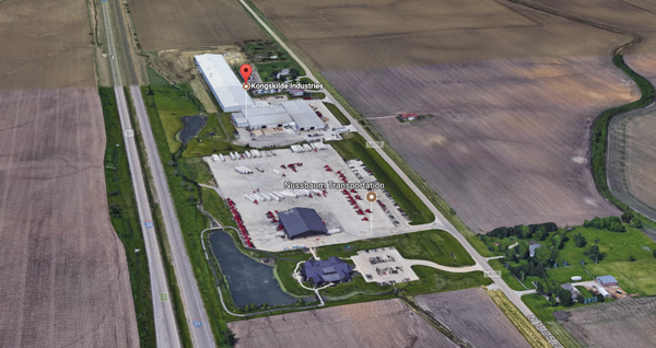 Brandt Industries would move onto a property between Normal and Hudson now occupied by Kongskilde, another agricultural company, officials said.