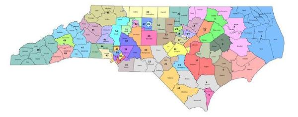 The Special Master's draft NC Senate district proposal