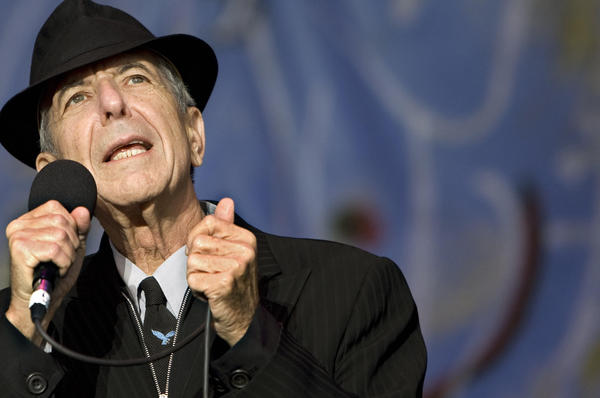 Leonard Cohen performs in Amsterdam on July 12, 2008.