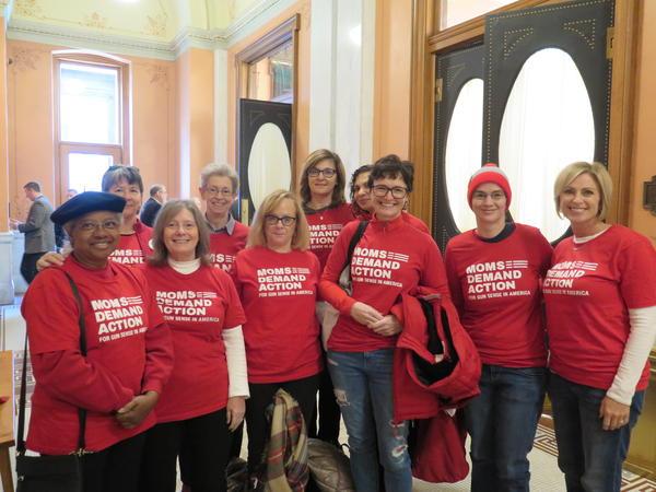 "Members of the group, ""Moms Demand Action For Gun Sense In America"""