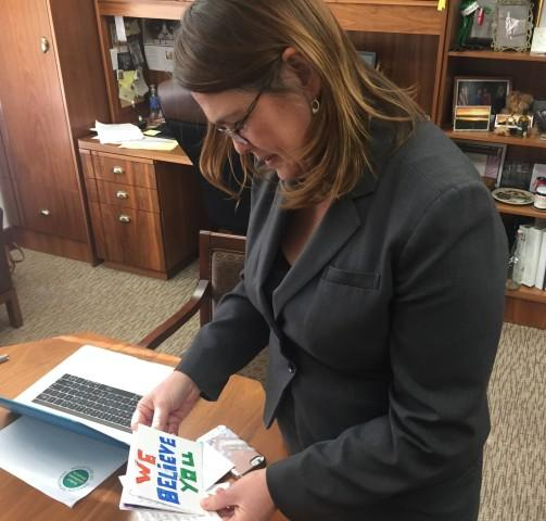 <p>Sen. Sara Gelser returned to the Salem Capitol this week for the first time after accusing a fellow lawmaker of sexual misconduct. </p>