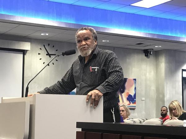 Citizen Benjamin Isreal, who has been outspoken on this issue in favor of changing the street names, stood before the commission Wednesday to thank them for their vote to accept the new names.