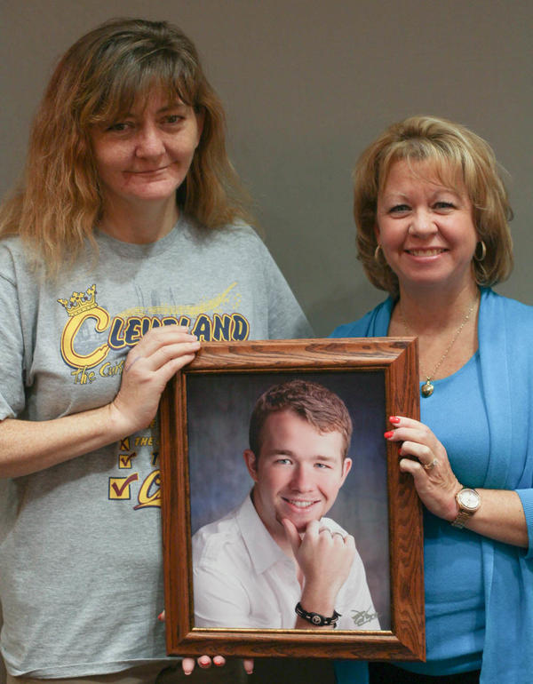 When Marlene Shay, 52, (right) lost her son Adam Shay to an opioid overdose, his kidney and pancreas went to Karen Goodwin, 46, a recovering addict herself.