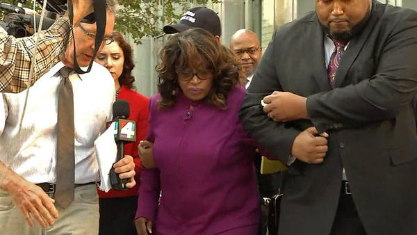 Former U.S. Rep. Corrine Brown at the federal courthouse Thursday.