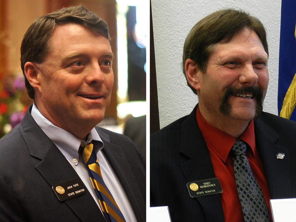 Sens. Jack Tate (left) and Randy Baumgardner