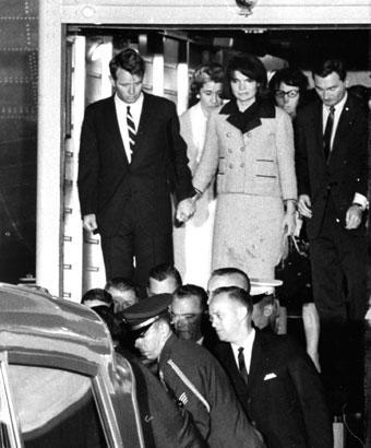 Kennedy refused to take off the dress, splattered with her husband's blood.