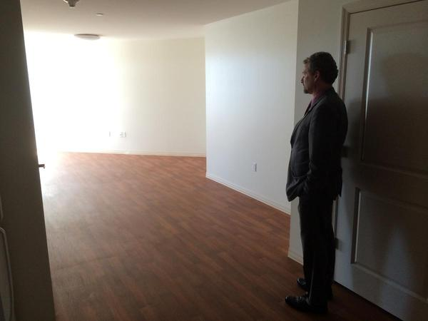 Beyond Housing's Chris Krehmeyer stands in a vacant unit inside Rosie Shields Manor in Pagedale. Krehmeyer's group has developed a number of projects using the low-income housing tax credit.