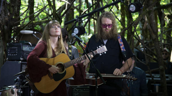Courtney Marie Andrews on the Woods Stage at Pickathon 2017.