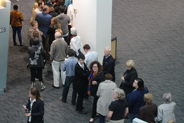 Crowds line up at Little Rock's Statehouse Convention Center