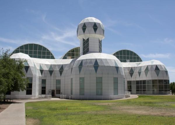 <p>The domes that served as residential space for scientists who lived in Biosphere 2.</p>