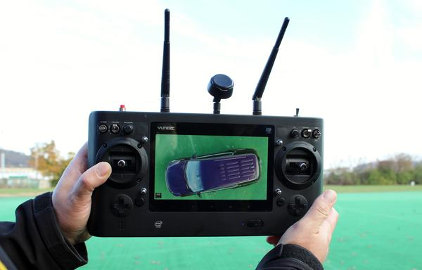 Officers can monitor the drone's camera from the controller.