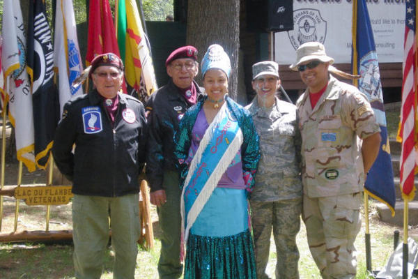 <p>Lisa Gonsalves, second from right, worked at Chemawa in the 1990s, then joined the military. When she returned more recently, conflicts with administrators forced her out.</p>