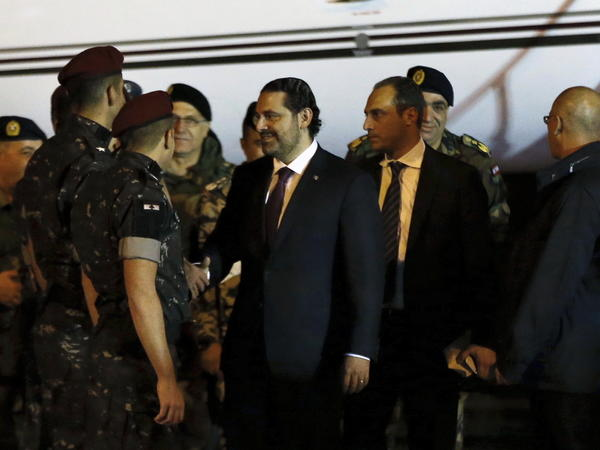 Lebanese Prime Minister Saad Hariri arrived back in his country Tuesday. Hariri's Nov. 4 resignation sparked rumors of Saudi influence and suspicions that he was being held against his will in Riyadh.