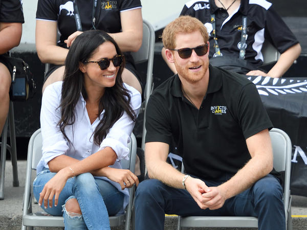 Actor Meghan Markle and Prince Harry attend the Wheelchair Tennis on Day 3 of the Invictus Games Toronto 2017 at Nathan Philips Square in September.