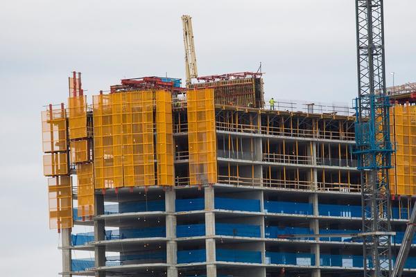 Construction continues on the Wynn Boston Harbor Casino in Everett on November 14, 2017. (Jesse Costa/WBUR)