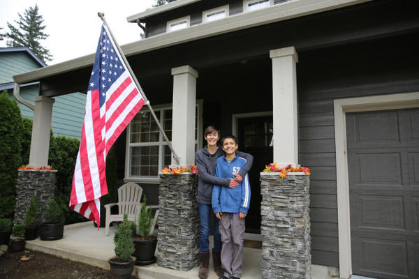 <p>Angie Chapin and her 12-year-old son, Kaliq, who is on the autism spectrum.</p>