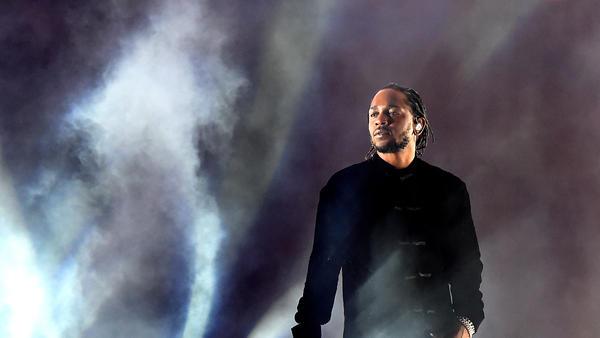 Kendrick Lamar performing at Coachella on April 23, 2017.