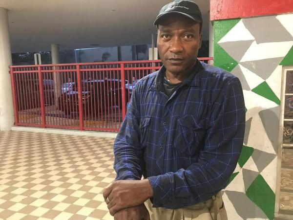Patrick O'Quinn was bused to Miami Edison Senior High  from Miami International Airport. He didn't have time to stock up on supplies or find a blanket or pillow.