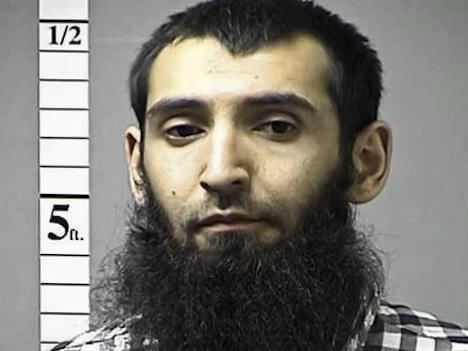 An undated file photo provided by the St. Charles County Department of Corrections in St. Charles, Mo., shows Sayfullo Saipov.