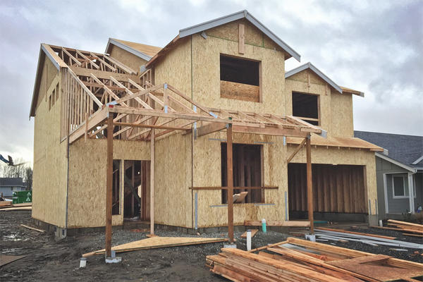 File photo. The majority of new homes built in Seattle in 2016 were built ''green.''