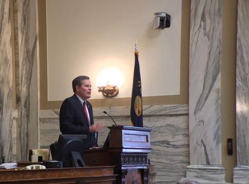 Montana Senator Steve Daines earlier this year.